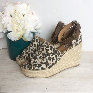 Not Rated leopard print espadrilles Size 6.5